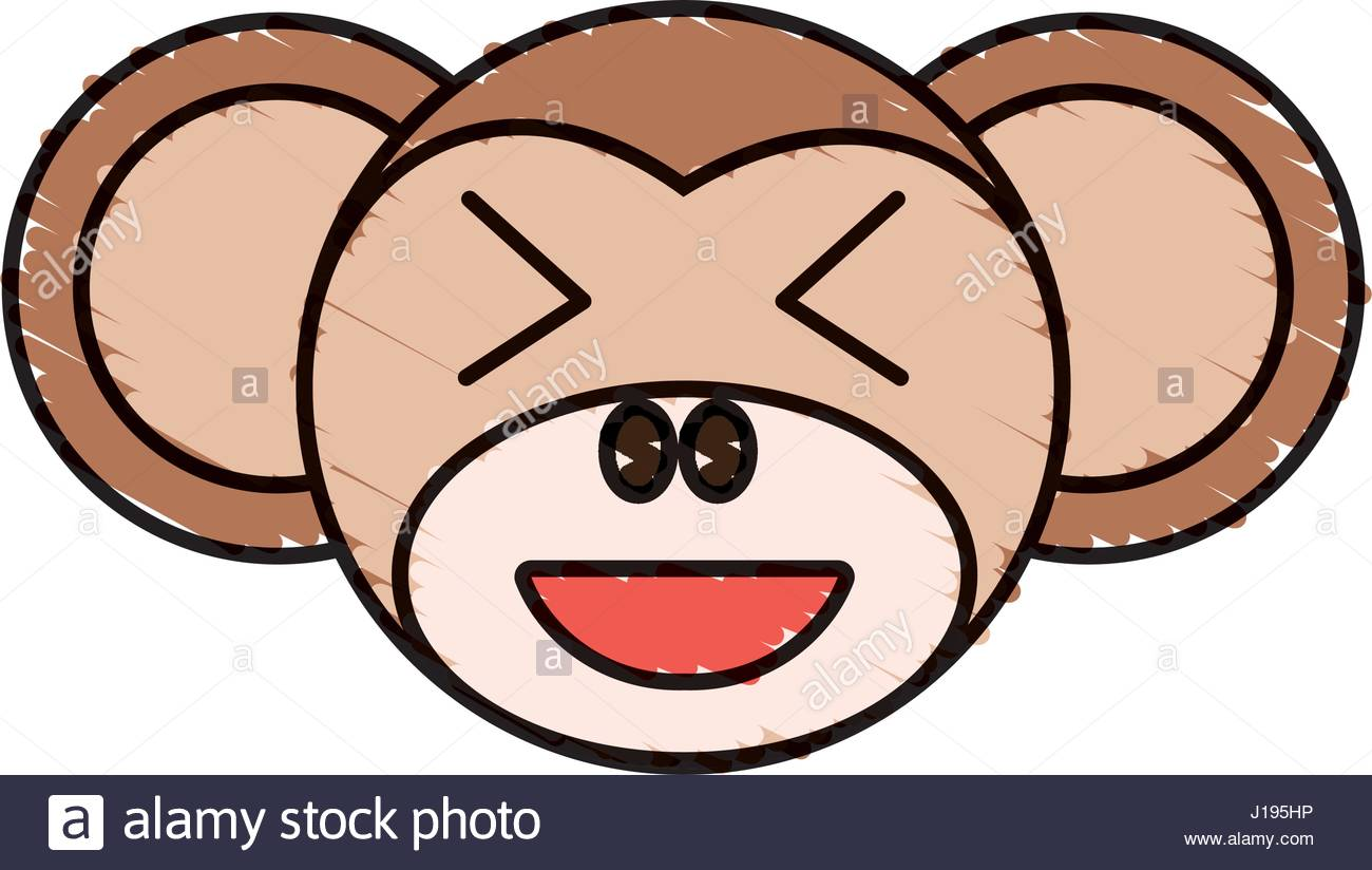 1300x824 cute monkey drawing animal Stock Vector Art amp Illustration, Vector