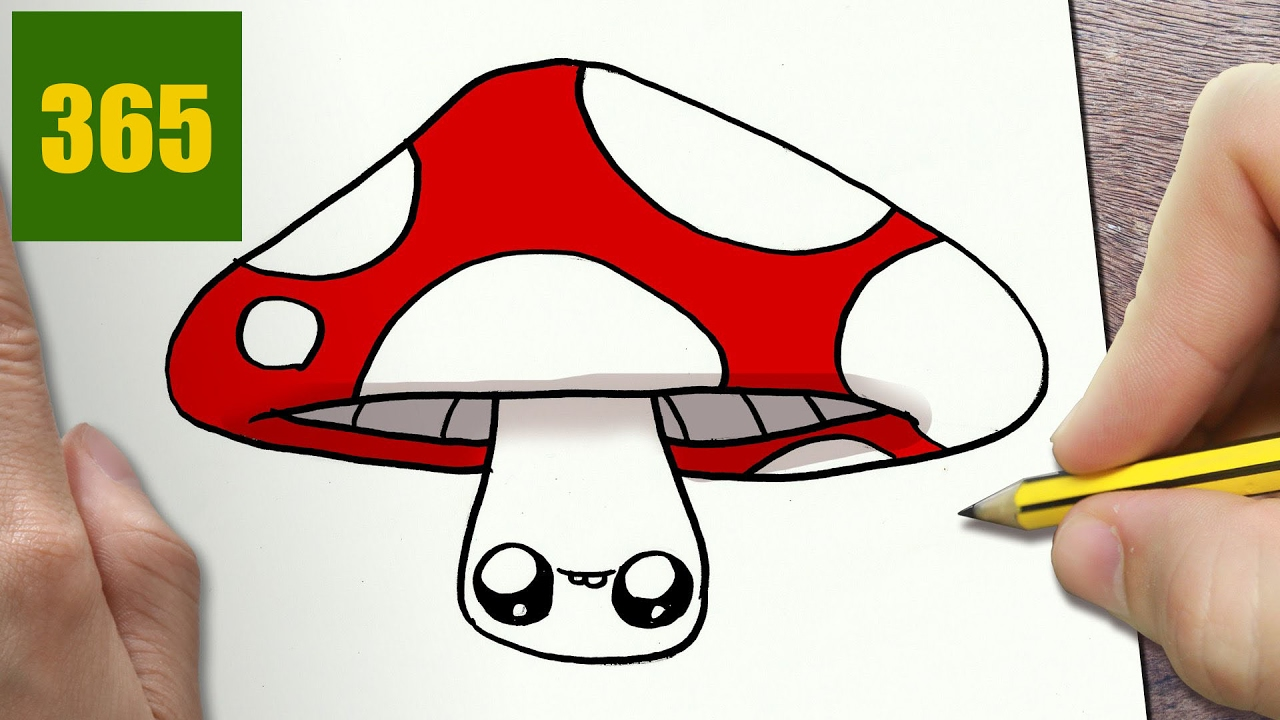 1280x720 How To Draw A Mushroom Cute, Easy Step By Step Drawing Lessons