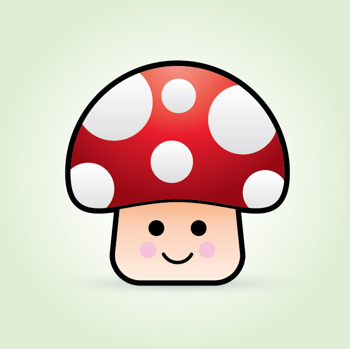 712x710 To Create A Cute Vector Mushroom Character