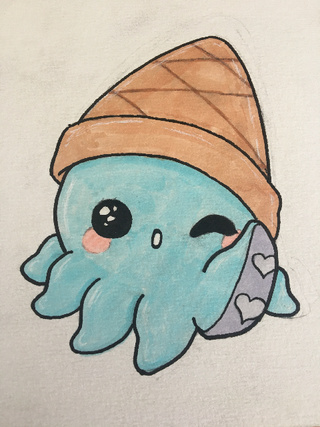 Cute Octopus Drawing at GetDrawings Free for
