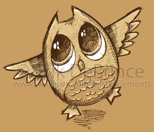 504x432 Cute Owl Sketch By Erikdeprince