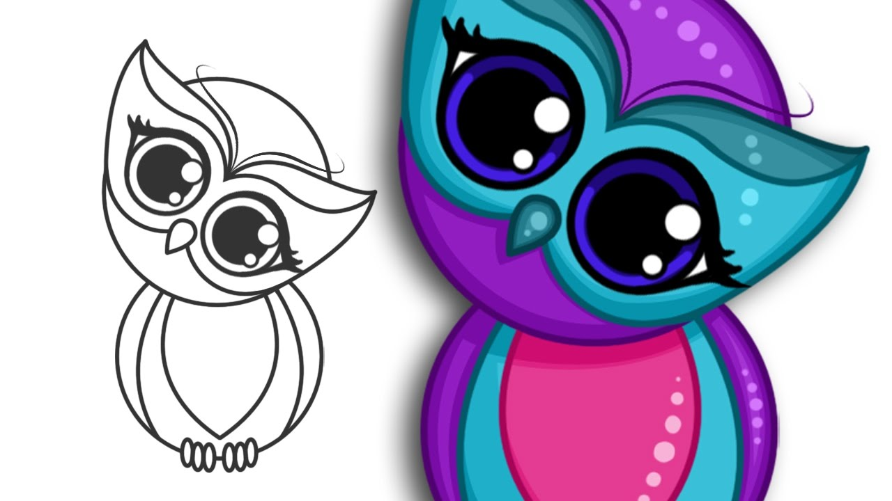 1280x720 How To Draw A Super Cute Owl Step By Step Drawing
