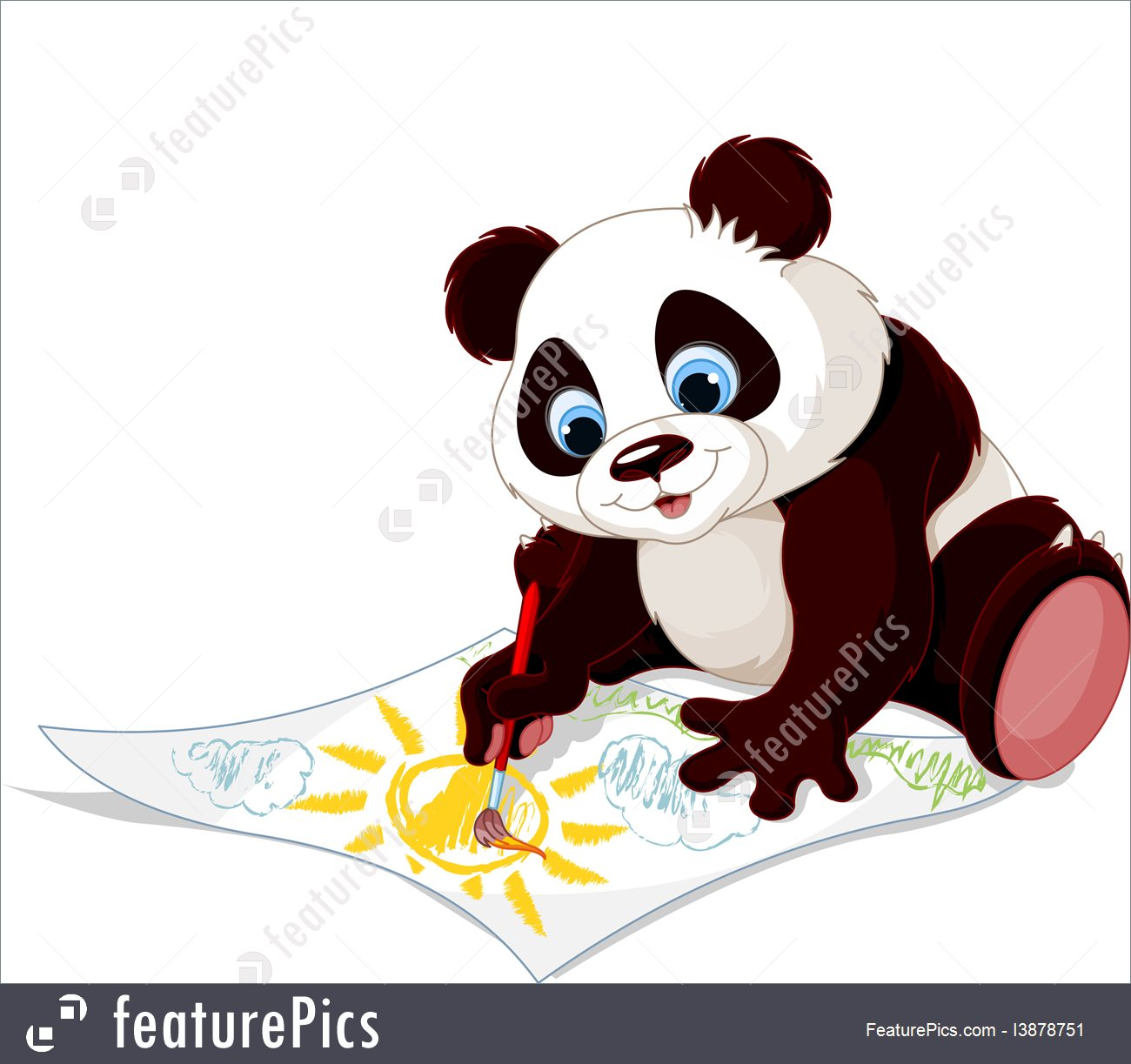 1300x1223 Cute Panda Drawing Picture I3878751