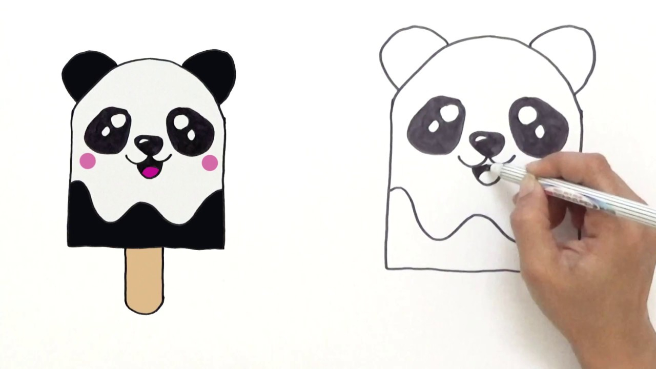 1280x720 Cute Panda Drawings How To Draw Cute Panda Ice Cream