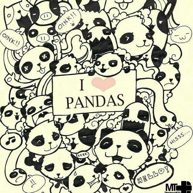 640x640 19 Best Pandas Images On Cute Drawings, Panda Bears