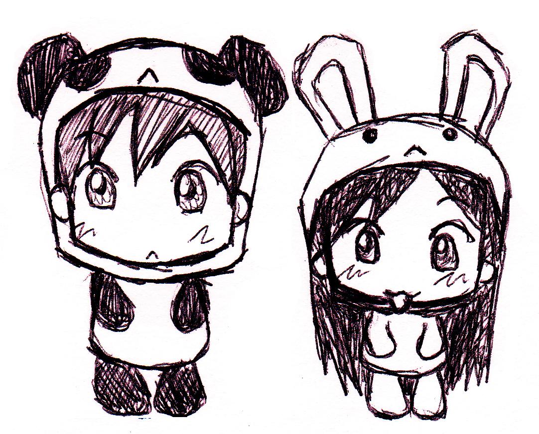 1082x872 Bunny And Panda By Refinnej24