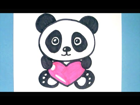 480x360 How To Draw A Panda With A Love Heart