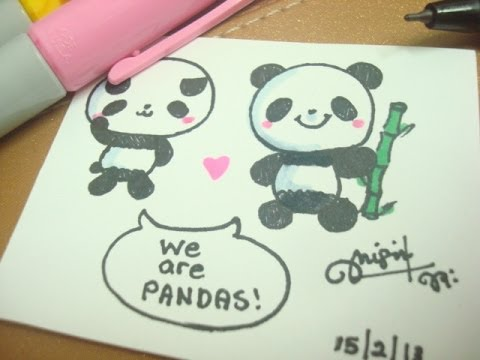 480x360 How To Draw A Cute Panda )