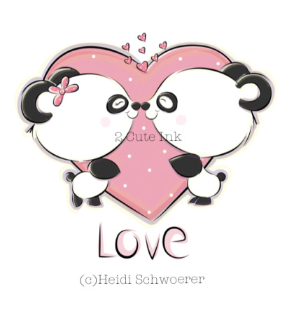 410x451 Panda Love! My Illustrations Panda, Digital And Animal