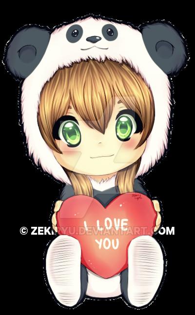 400x643 Panda Love By Zekiryu
