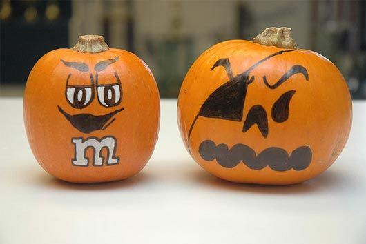 530x354 30 Funny Faced Halloween Pumpkin Drawings And Painting Ideas