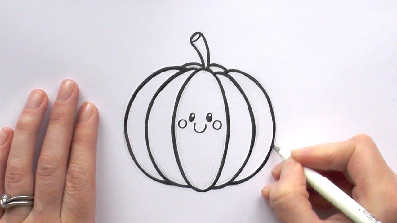 1280x720 How To Draw A Cartoon Pumpkin