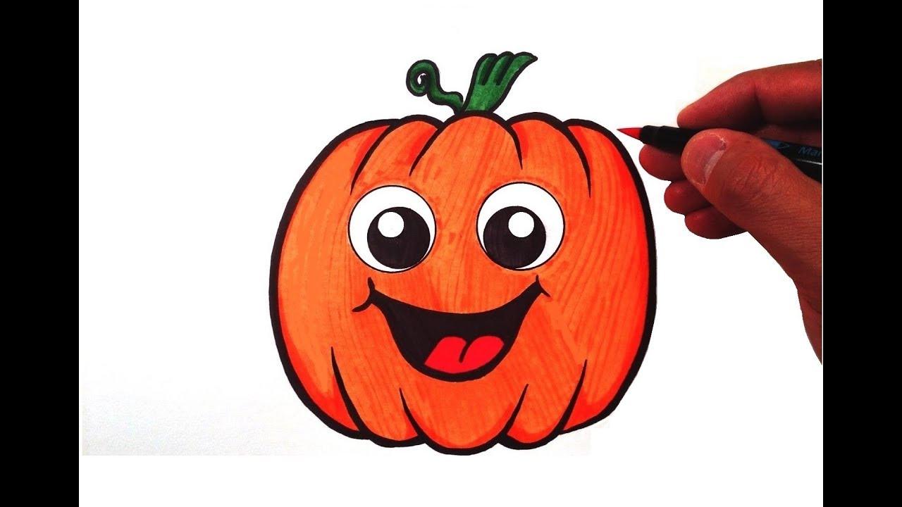 1280x720 How To Draw A Cute Pumpkin
