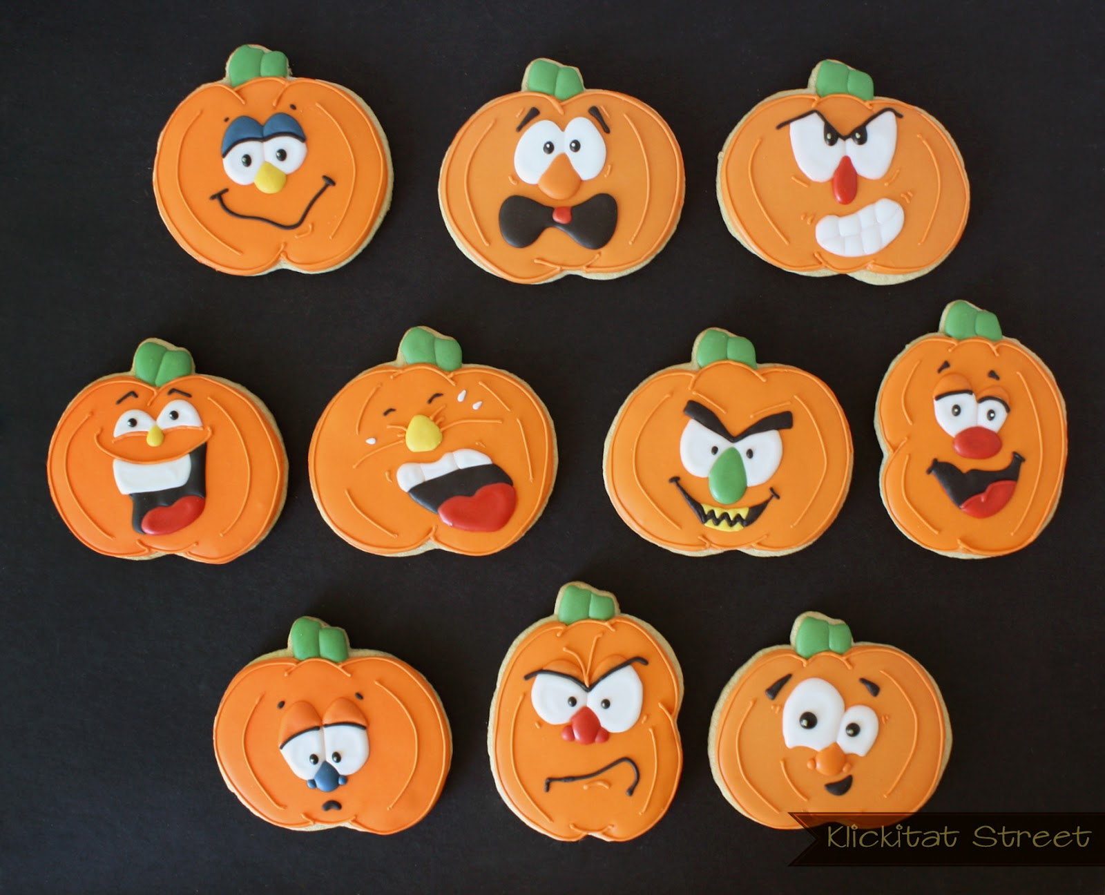 1600x1296 Silly Pumpkin Faces With Royal Icing Transfers Klickitat Street