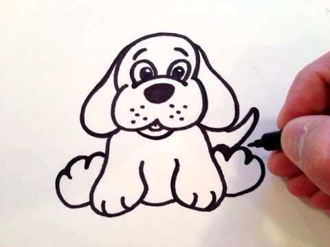 480x360 How to Draw a Cute Puppy Dog