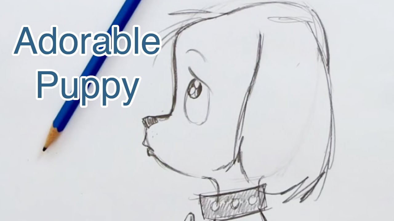 1280x720 How to Draw a Super Cute Puppy (Step by Step)