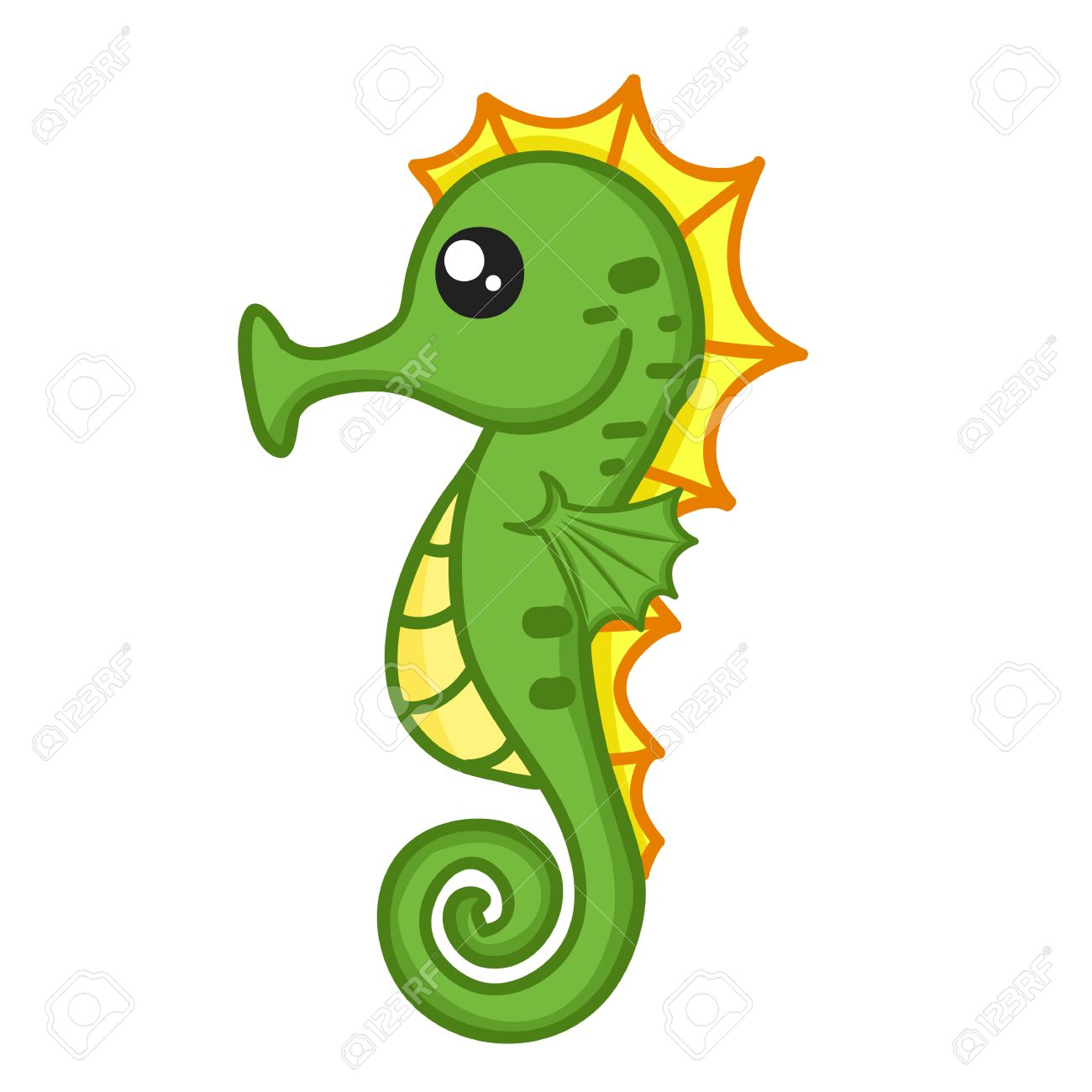 Cute Seahorse Drawing at GetDrawings.com   Free for personal use ...