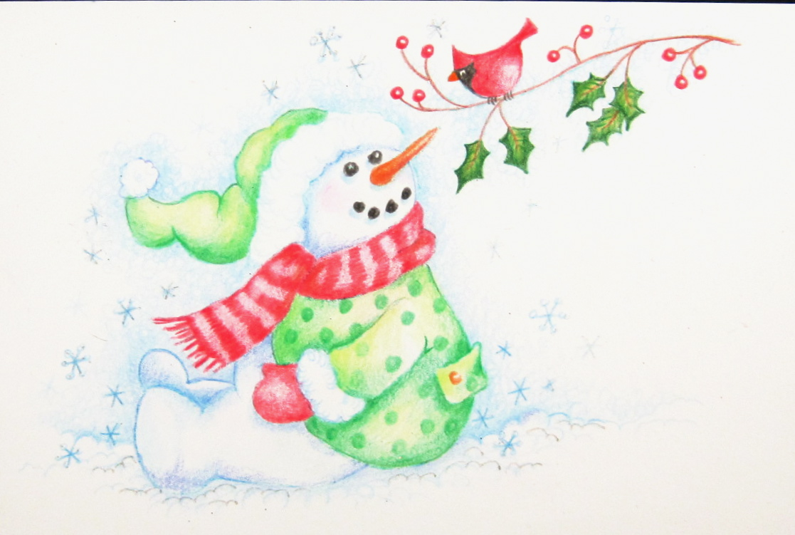 Cute Snowman Drawing at GetDrawings.com | Free for personal use Cute ...