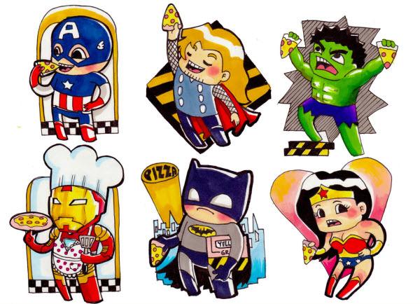 600x434 40 Superheroes Artworks That Make You Go Awww!