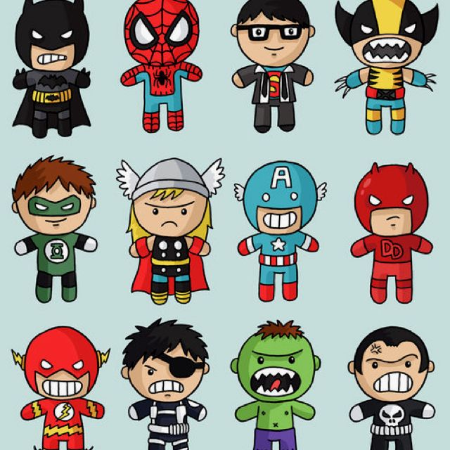 640x640 Cute Superheroes Drawing Superheroes And Whatnot.