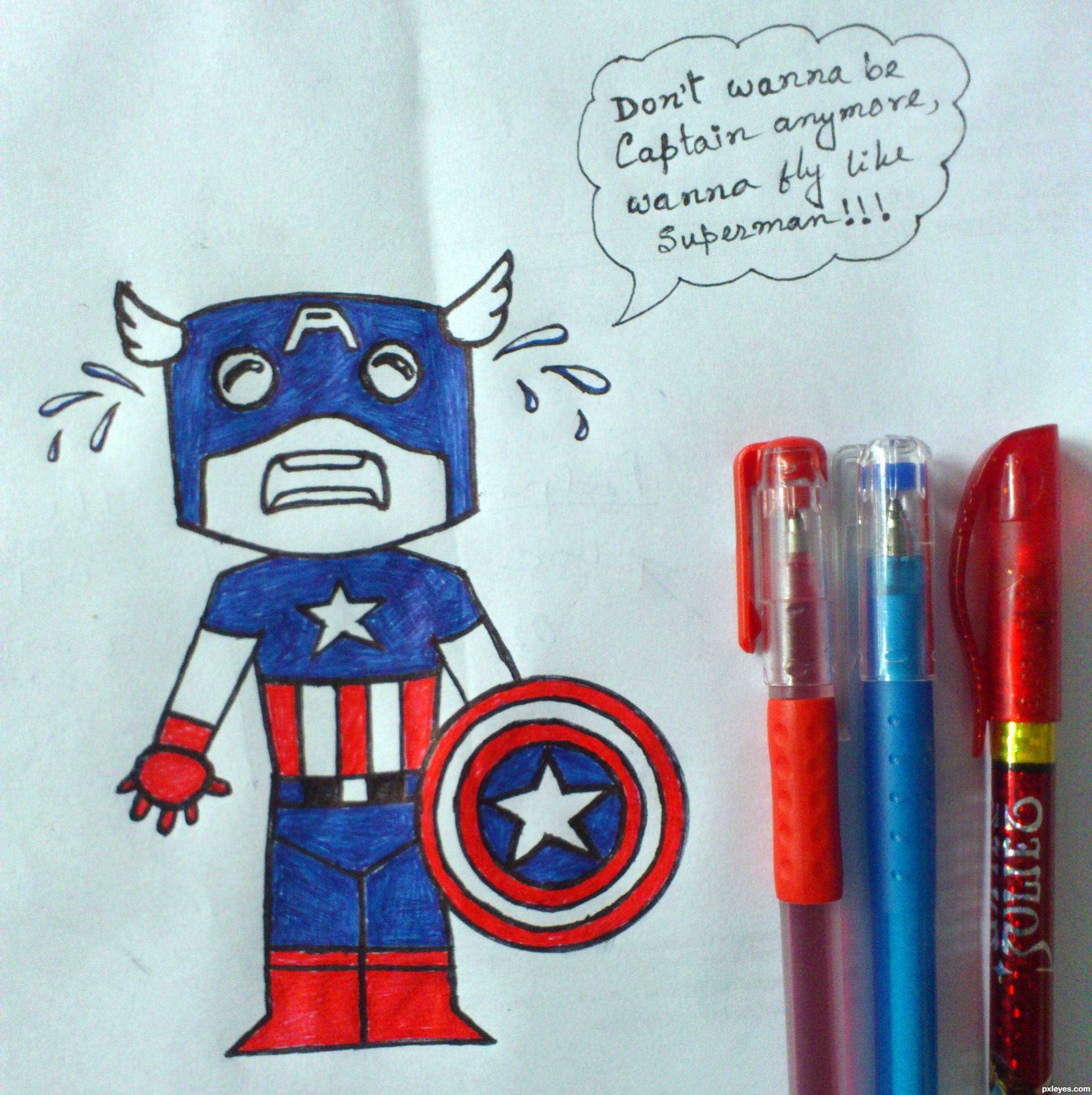 2448x2454 Not Happy Picture, By Debdyutsarker For Cute Super Hero Drawing