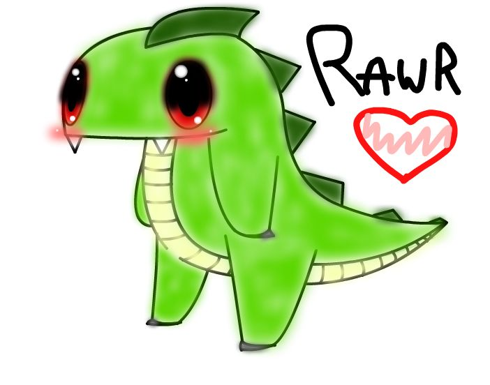 702x552 Cute T Rex Drawing