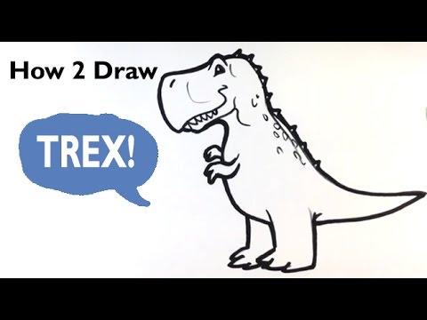 480x360 How To Draw A Dinosaur(Cute)