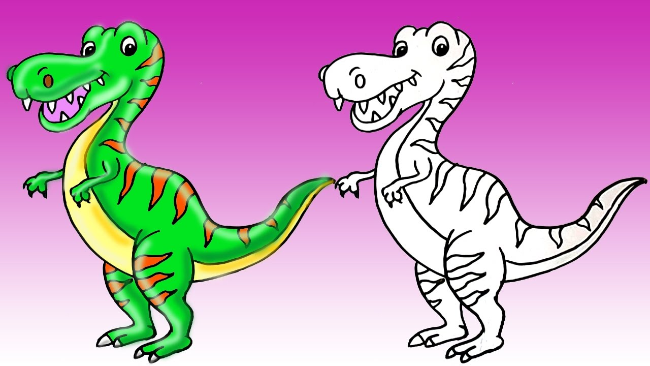 1280x720 How To Draw A Dinosaur T Rex Cute Step By Step