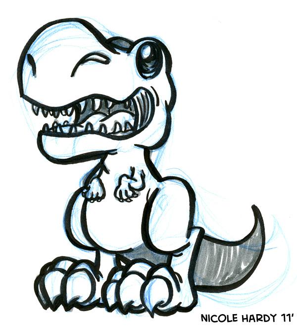 600x658 The Animation Dump Dinosaur Doodles