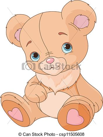 353x470 cute teddy bear. Teddy bear against white background vector
