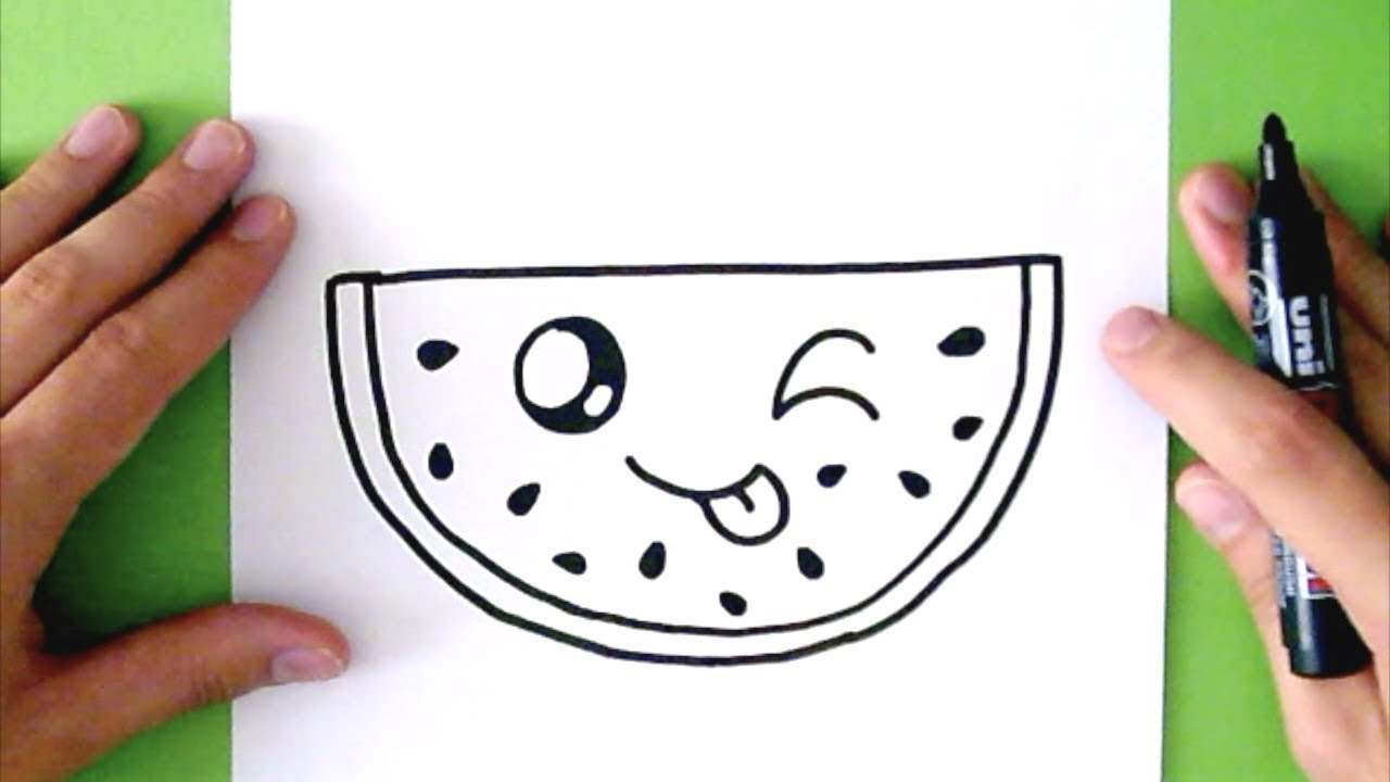 1280x720 How To Draw A Cute Watermelon