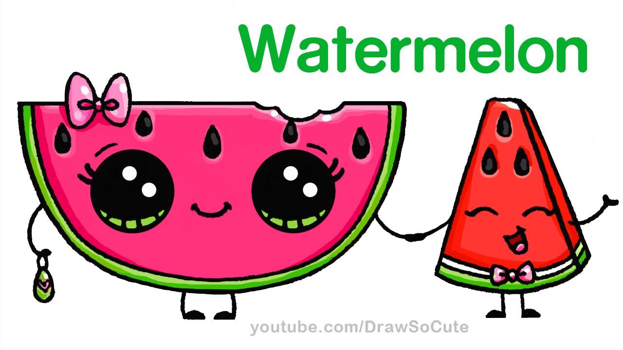 1280x720 How To Draw Watermelon Easy