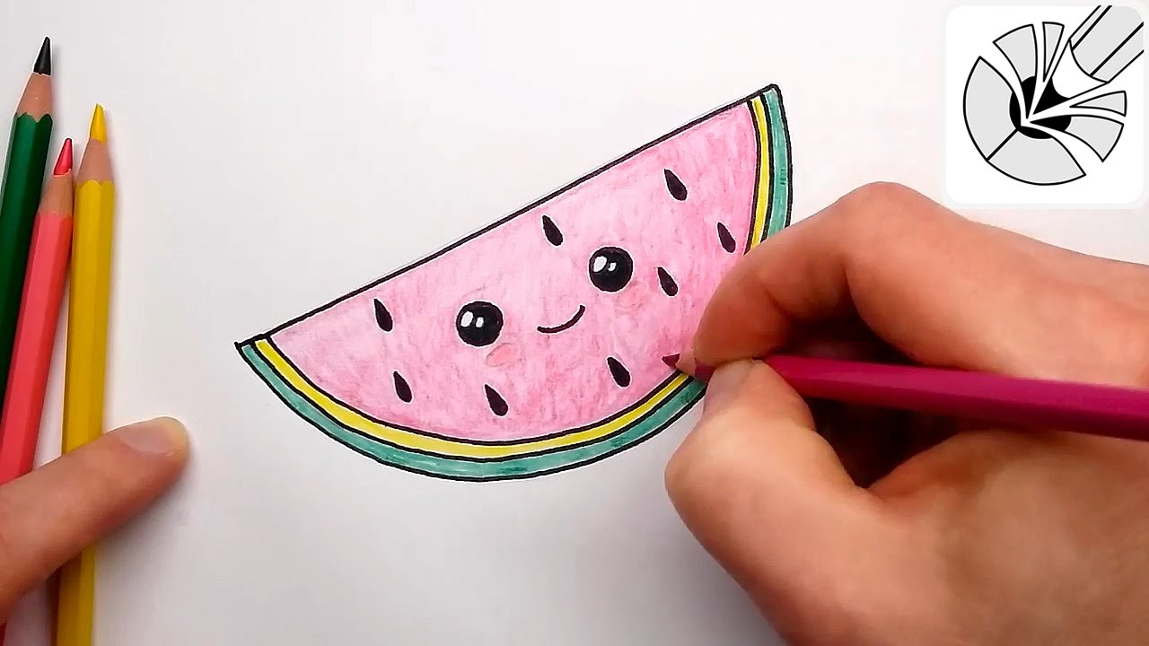 1280x720 How To Draw A Cute Watermelon Slice