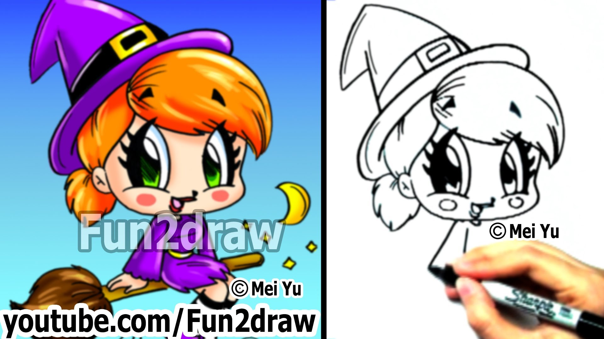 Cute Witch Drawing At Getdrawings Com Free For Personal Use Cute
