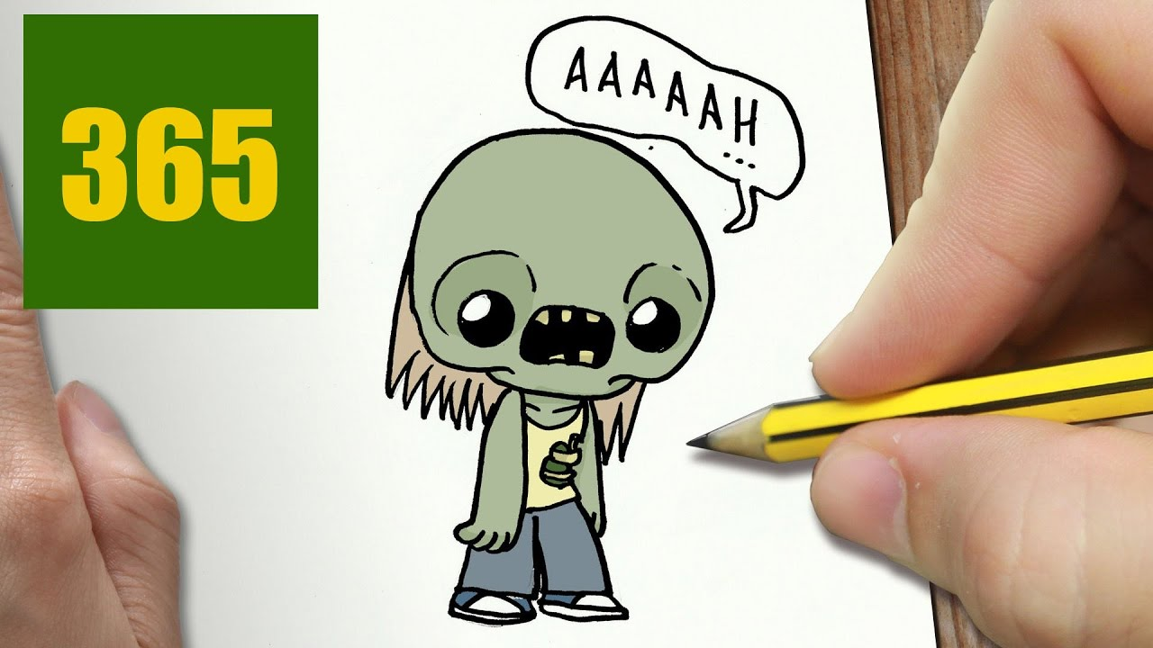 1280x720 How To Draw A Zombie Cute, Easy Step By Step Drawing Lessons
