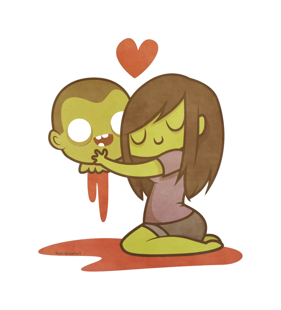 900x992 I'Ll Love You Forever. And Ever. Zombie Love By Beyx