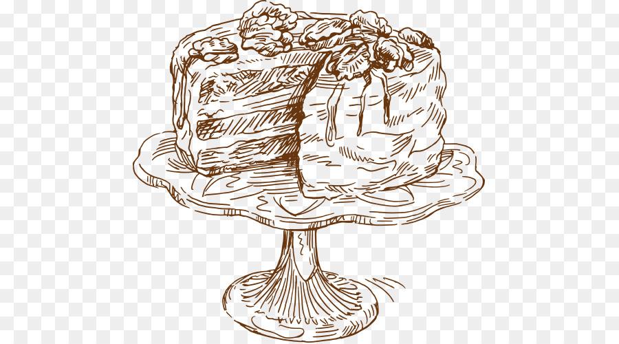 900x500 Coffee Cake Drawing Food