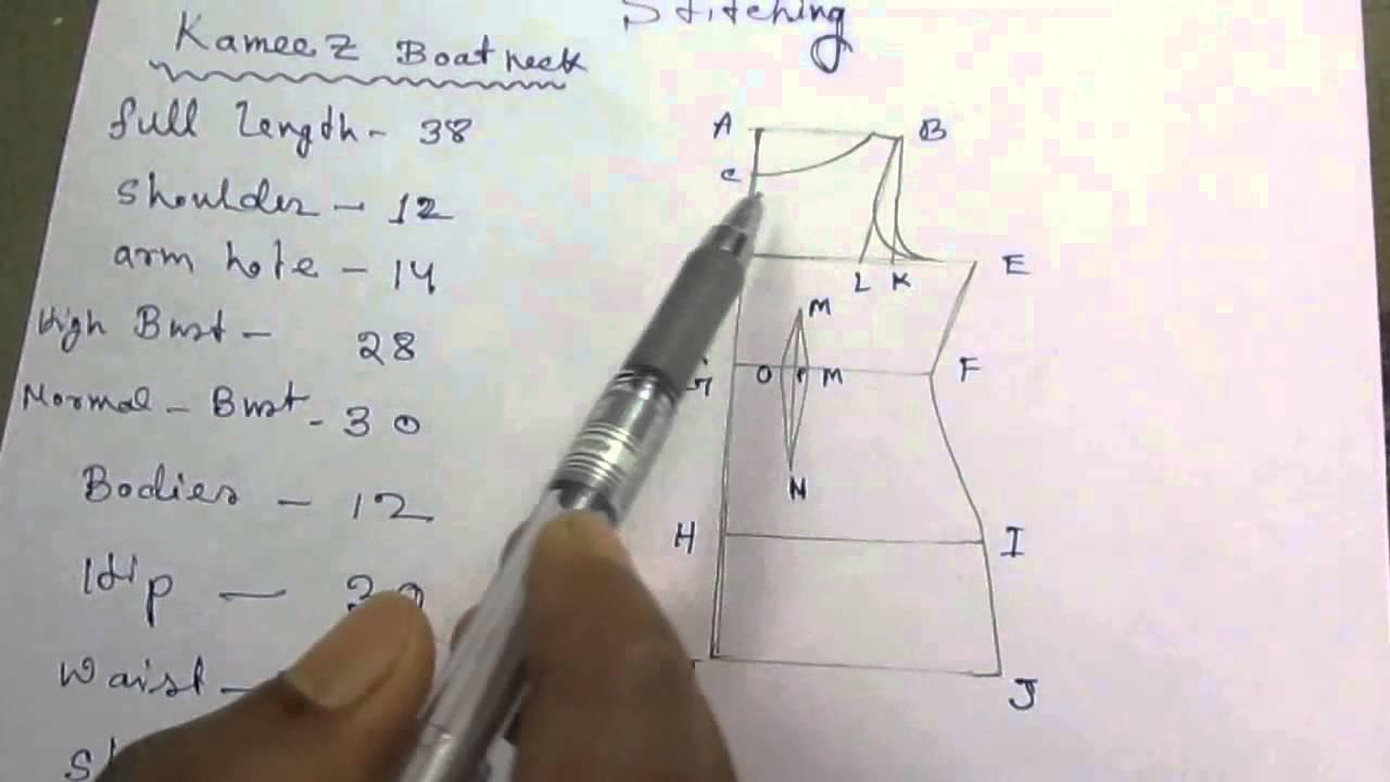 1280x720 Kameez Draftingcutting And Stitching With Formula Part 1 Of 7