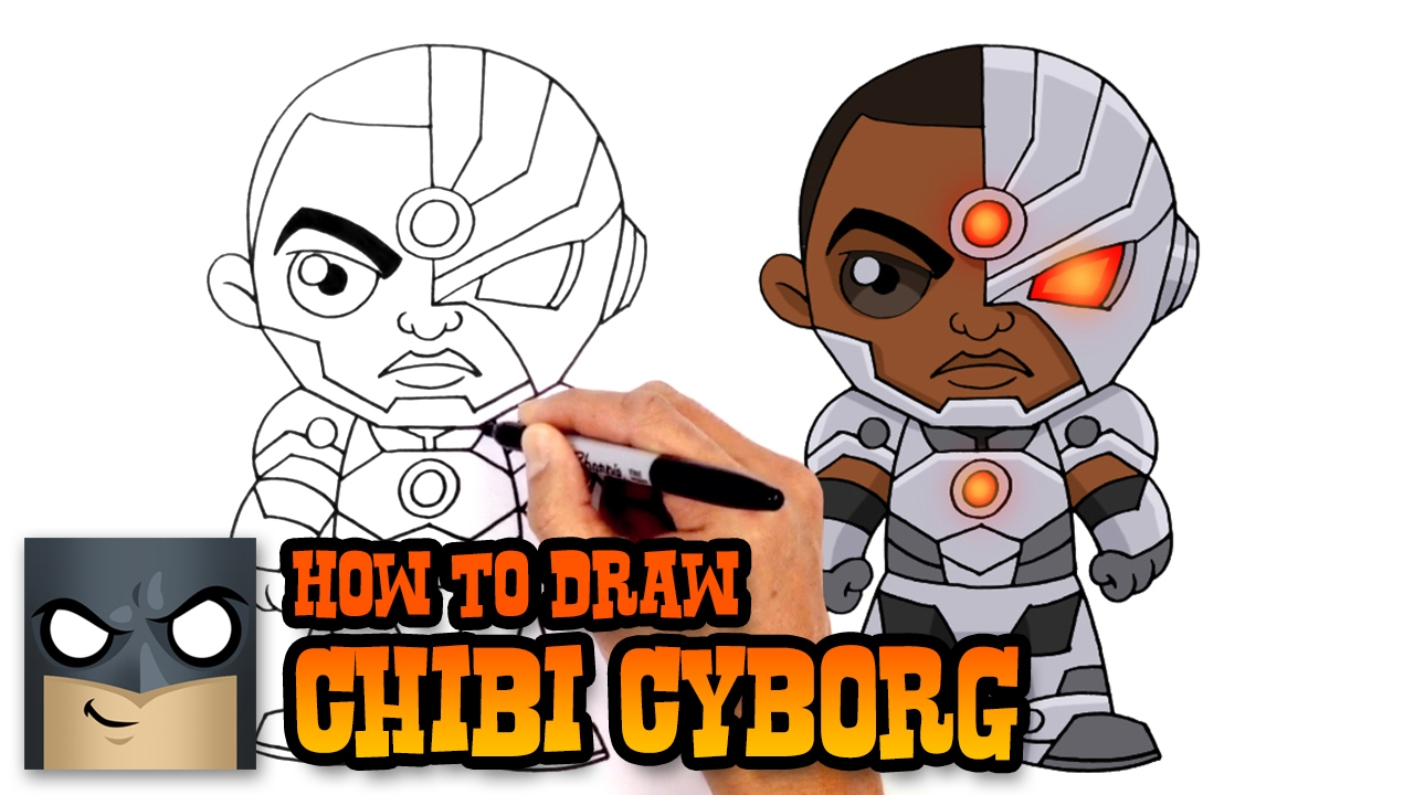 1280x720 How To Draw Cyborg Justice League