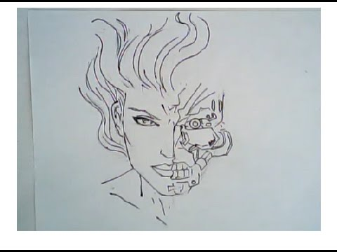 480x360 How To Draw A Female Cyborg (Human Robot Art)
