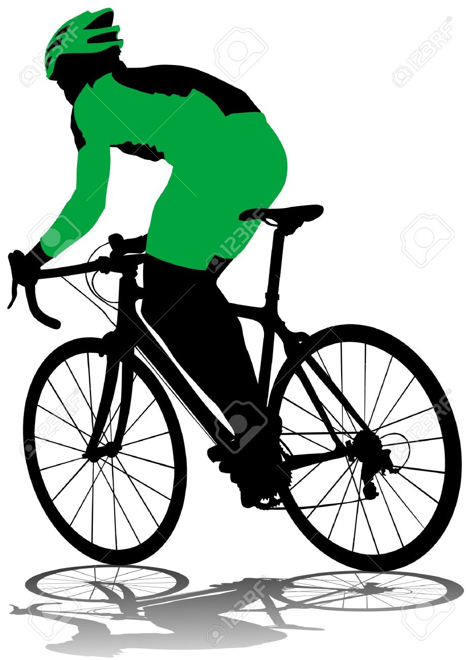 918x1300 Drawing Silhouette Of A Cyclist Boy Royalty Free Cliparts, Vectors