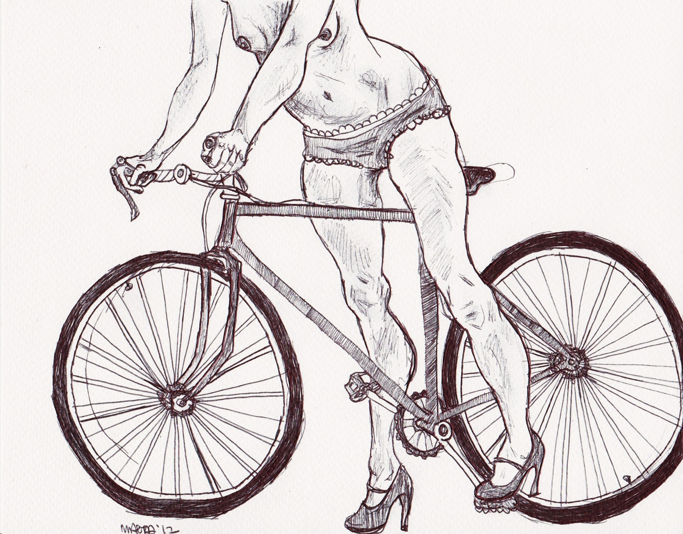 1352x1058 Cyclist With Panties Greetings From Toronto