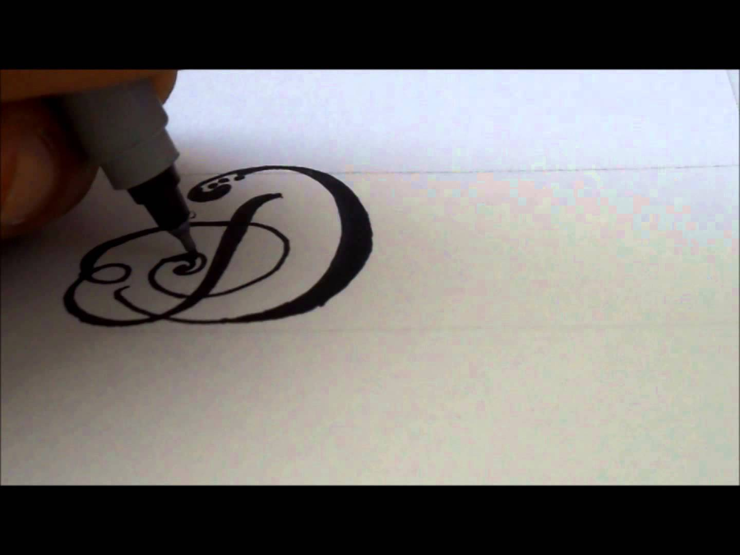 1440x1080 How To Draw A Fancy Swivereled Letter