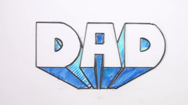 800x450 How To Draw Dad In 3d Letters