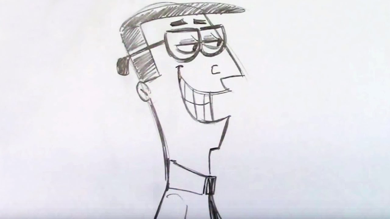 1280x720 How To Draw A Silly Dad Cartoon (Step By Step)