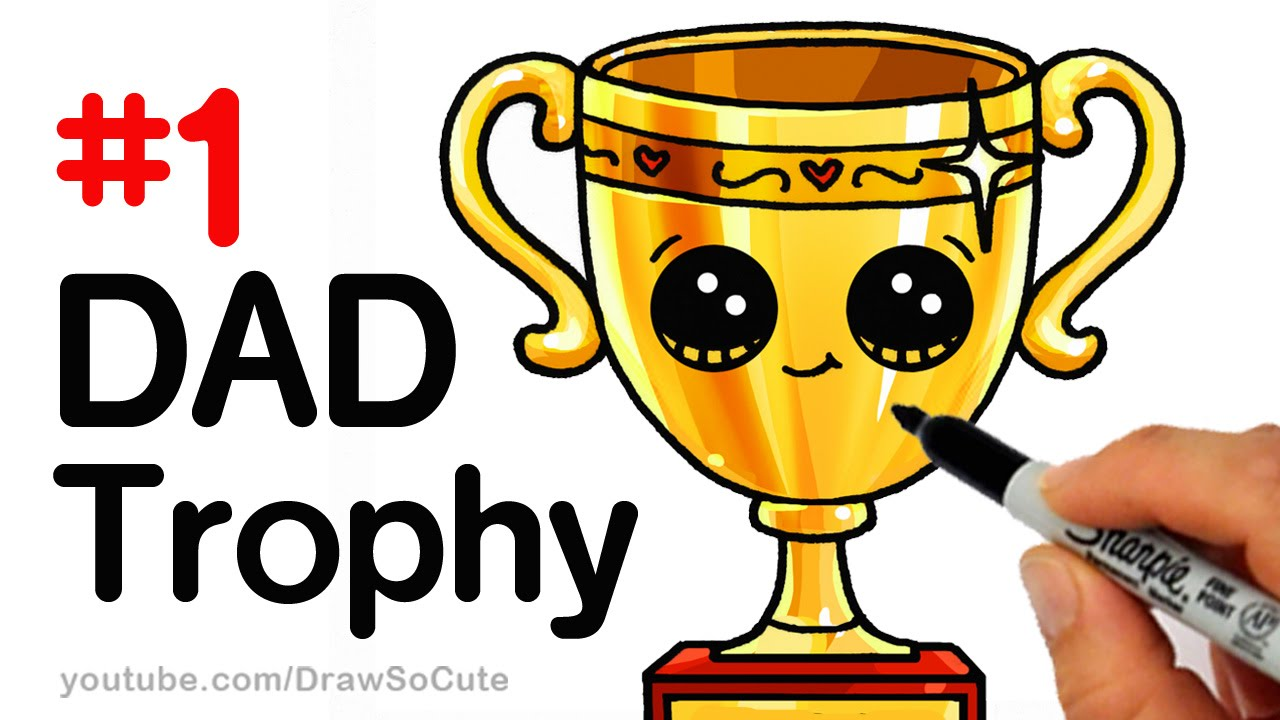 1280x720 How To Draw A Trophy For Dad For Father's Day Step By Step Cute