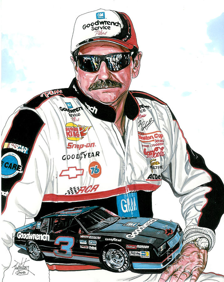 715x900 Dale Earnhardt Drawing By Neal Portnoy