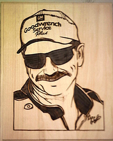 473x592 Dale Earnhardt Sr Pyrography By Timothy Wilkerson