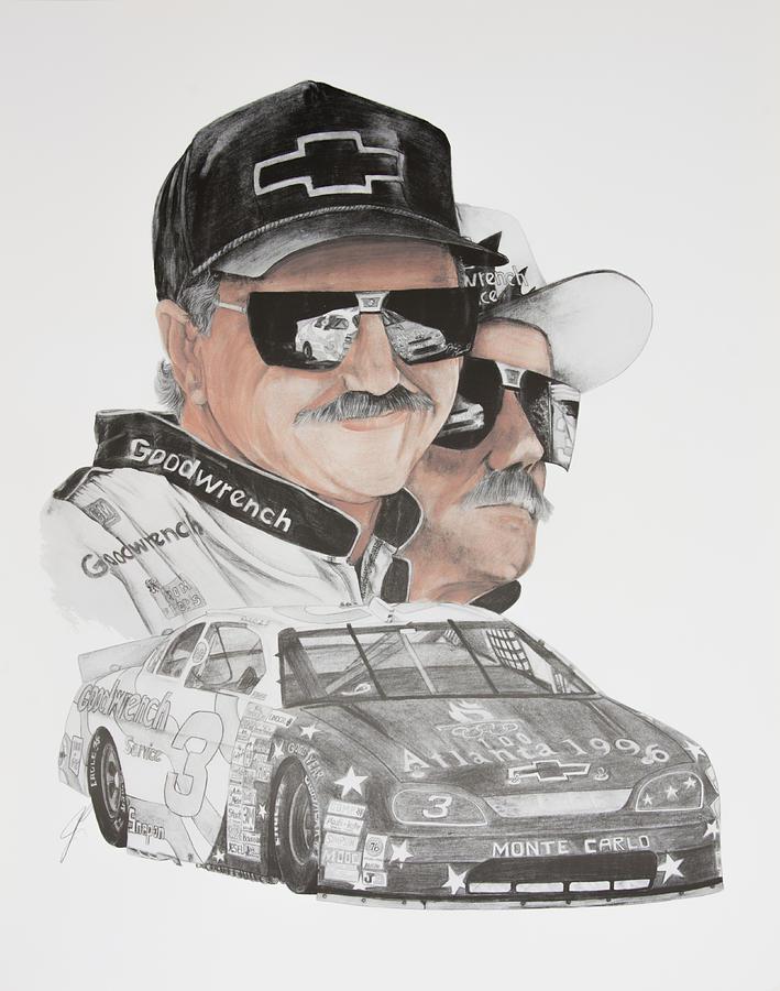 709x900 Dale Earnhardt Sr. The Intimator Drawing By Joe Lisowski