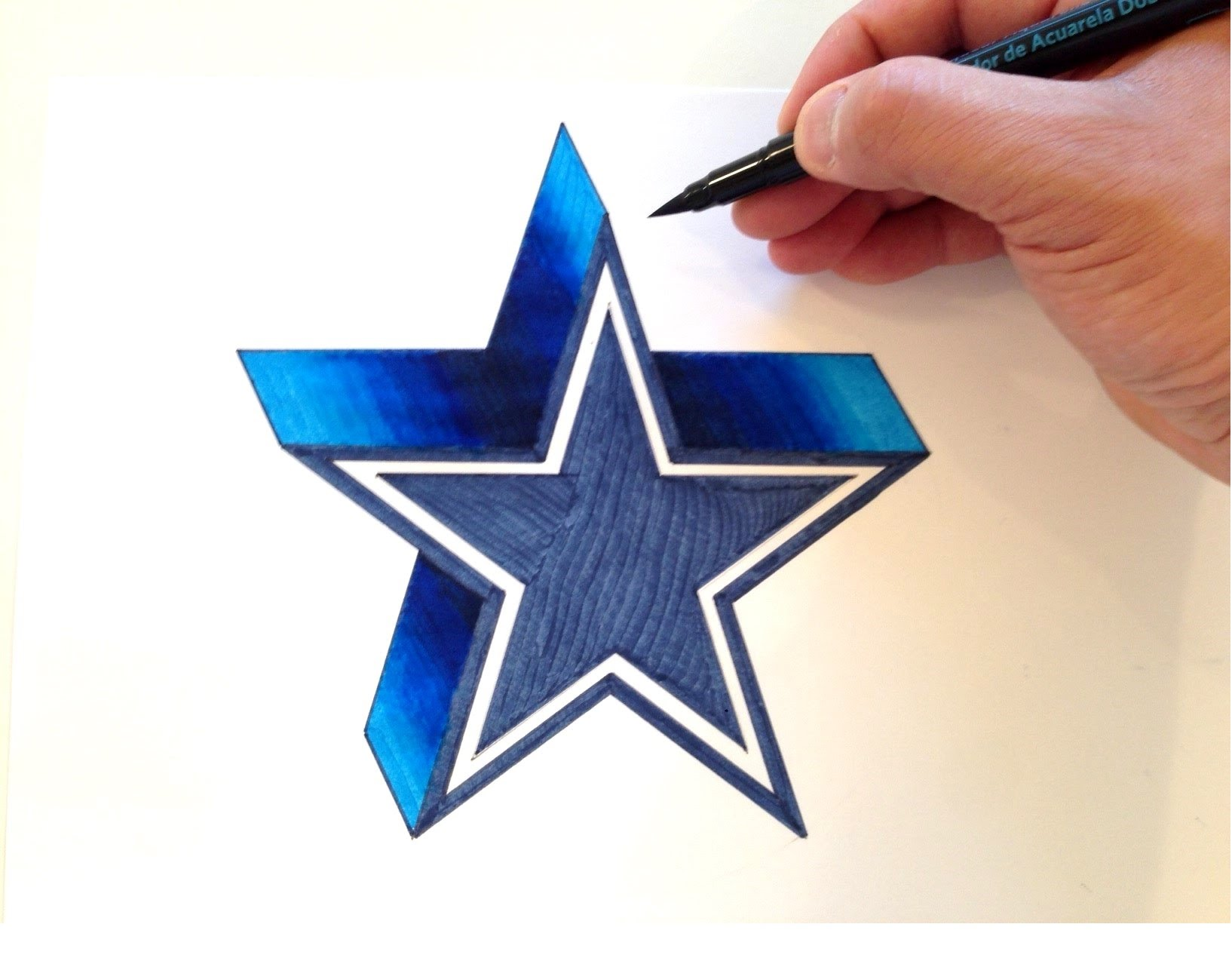 1634x1278 How to Draw the Dallas Cowboys Logo in 3D